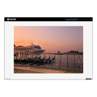 "Cruise Ship and Gondolas near Grand Canal, Italy Decal For 15"" Laptop"
