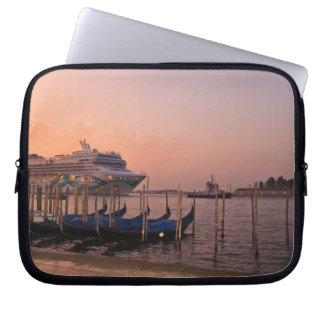 Cruise Ship and Gondolas near Grand Canal, Italy Laptop Sleeve