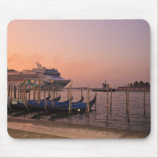 Cruise Ship and Gondolas near Grand Canal, Italy Mouse Pad
