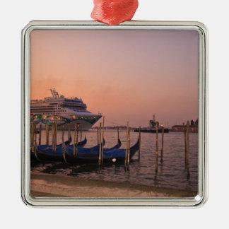 Cruise Ship and Gondolas near Grand Canal, Italy Christmas Tree Ornament