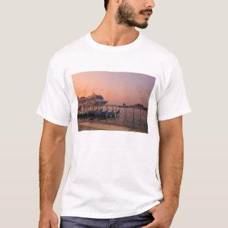 Cruise Ship and Gondolas near Grand Canal, Italy T-Shirt