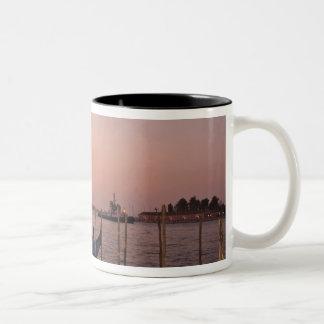 Cruise Ship and Gondolas near Grand Canal, Italy Two-Tone Coffee Mug