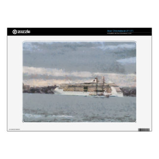 Cruise ship and sail boat acer chromebook decals