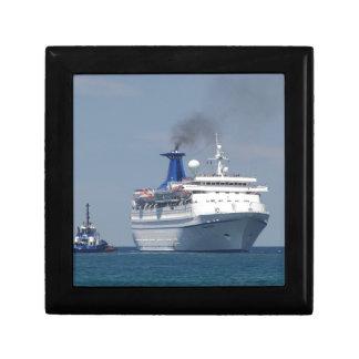 Cruise Ship Aquamarine Gift Box