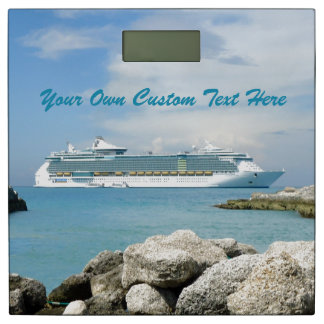 Cruise Ship at CocoCay Custom Bathroom Scale
