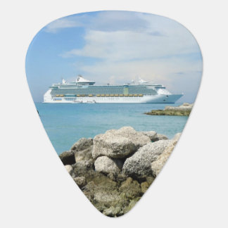 Cruise Ship at CocoCay Guitar Pick