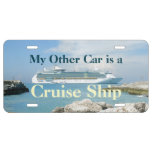 Cruise Ship at CocoCay License Plate
