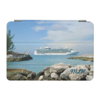 Cruise Ship at CocoCay Monogrammed iPad Mini Cover
