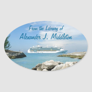 Cruise Ship at CocoCay Personalized Bookplate