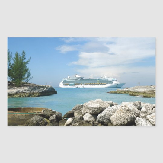 Cruise Ship at CocoCay Sticker