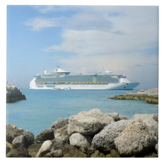 Cruise Ship at CocoCay Tile