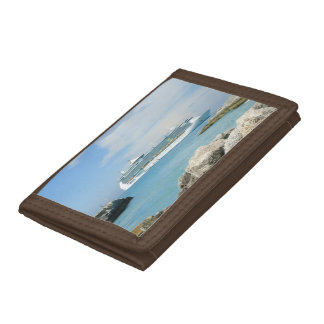 Cruise Ship at CocoCay Trifold Wallet