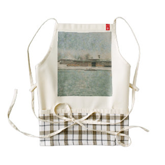 Cruise ship at rest zazzle HEART apron