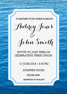 Cruise Ship Wedding Invitations | Zazzle