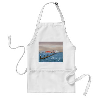 Cruise Ship At The Pier Adult Apron