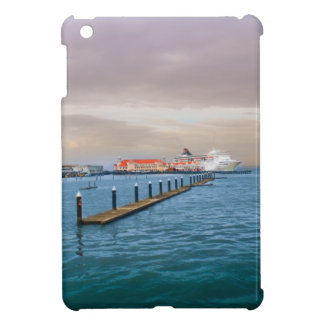 Cruise Ship At The Pier Cover For The iPad Mini