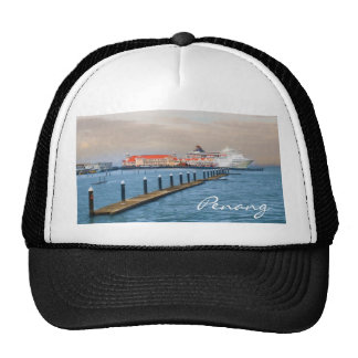 Cruise Ship At The Pier Trucker Hat