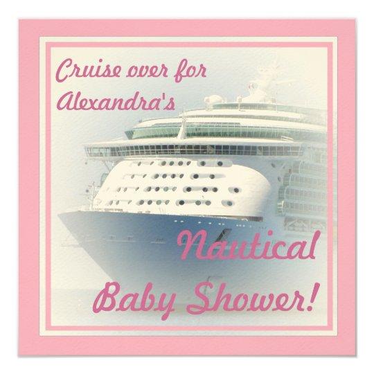Cruise Ship Baby Shower Invitation