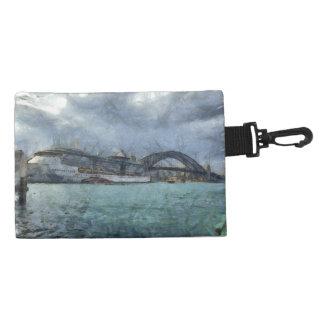 Cruise ship below Sydney harbour bridge Accessories Bag