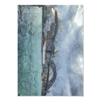 Cruise ship below Sydney Harbour Bridge 4.5x6.25 Paper Invitation Card