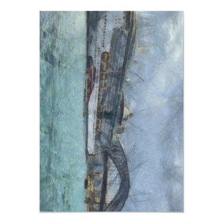 Cruise ship below Sydney Harbour Bridge 5x7 Paper Invitation Card