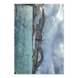 Cruise ship below Sydney Harbour Bridge 3.5x5 Paper Invitation Card