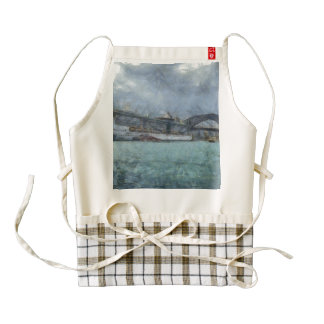 Cruise ship below Sydney harbour bridge Zazzle HEART Apron