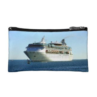 Cruise Ship Between the Buoys Makeup Bag