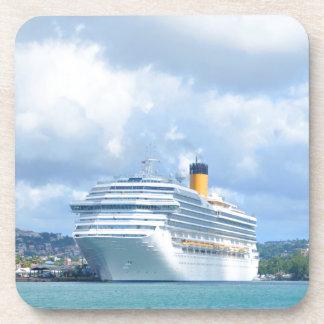 Cruise ship beverage coaster
