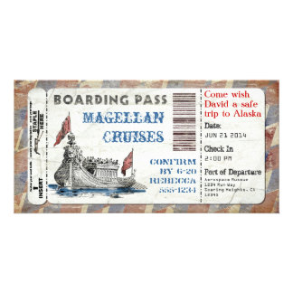 Cruise Ship Boarding Pass Card