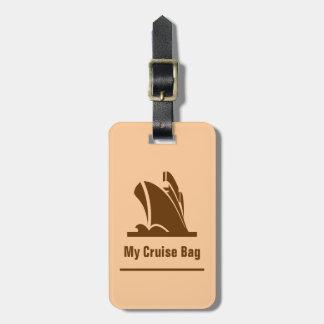 Cruise Ship Brown Luggage Tag