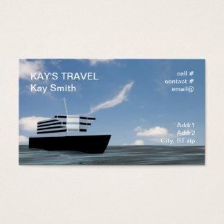 cruise ship business card