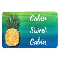 Cruise Ship Cabin Door Sign Pineapple Magnet
