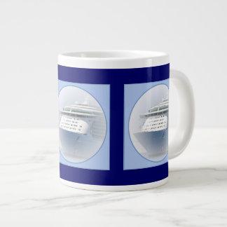 Cruise Ship Cameo Large Coffee Mug
