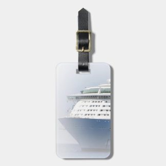 Cruise Ship Cameo Personalized Luggage Tag