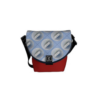 Cruise Ship Cameo Red Mini Courier Bag