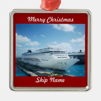 Cruise Ship Customizable Christmas Ornament