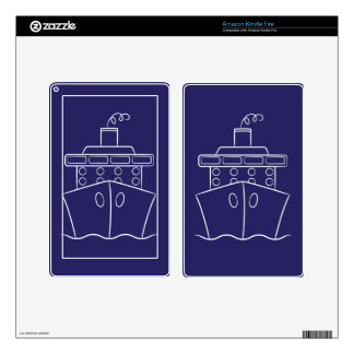 Cruise ship decal for kindle fire