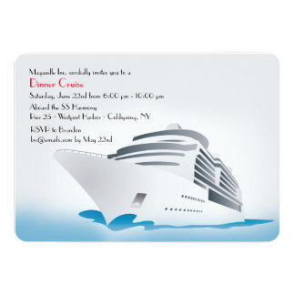 Cruise Ship Dinner Cruise Invitation