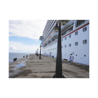 Cruise Ship Dock - St. Maarten Canvas Print