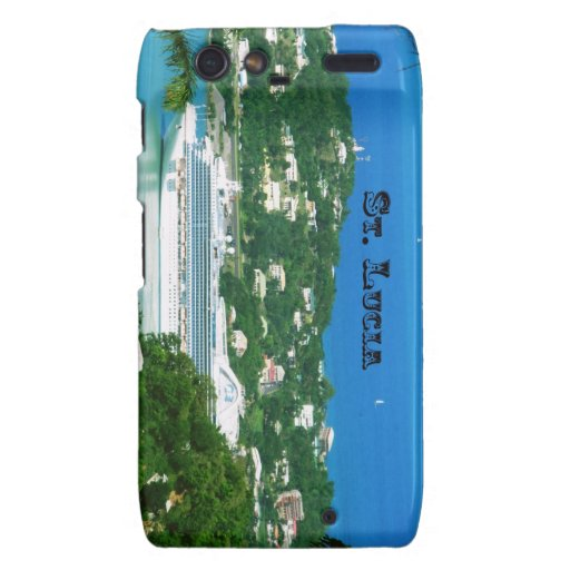 Cruise ship docked at St.Lucia Droid RAZR Cover