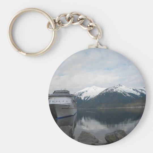 Cruise Ship Docked in Skagway, Alaska Keychain