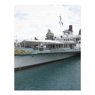 Cruise ship for leisure trip on Lake Thun Letterhead