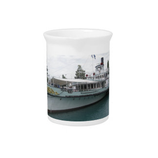 Cruise ship for leisure trip on Lake Thun Drink Pitchers
