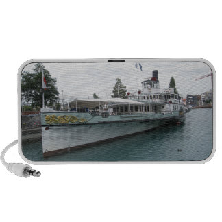 Cruise ship for leisure trip on Lake Thun Notebook Speakers