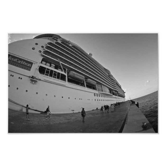CRUISE SHIP HUGE PRINT