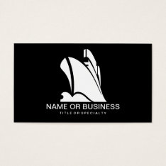 Cruise Ship Icon Business Card at Zazzle
