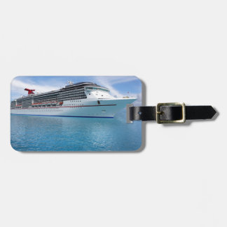 Cruise ship in Caribbean waters Bag Tag