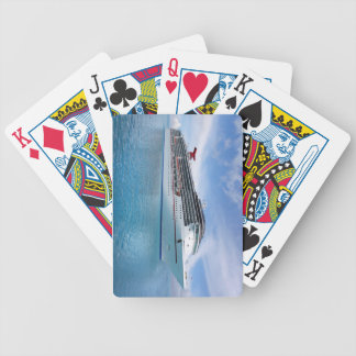 Cruise ship in Caribbean waters Bicycle Playing Cards