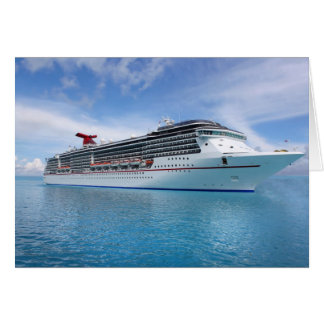 Cruise ship in Caribbean waters Greeting Card